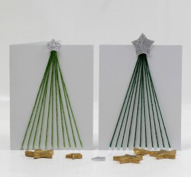 Thread Tree Christmas Card