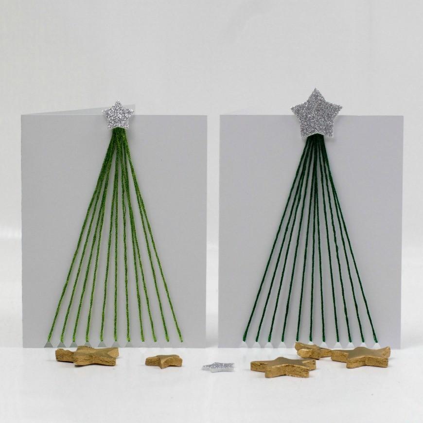 Thread Tree Christmas Card