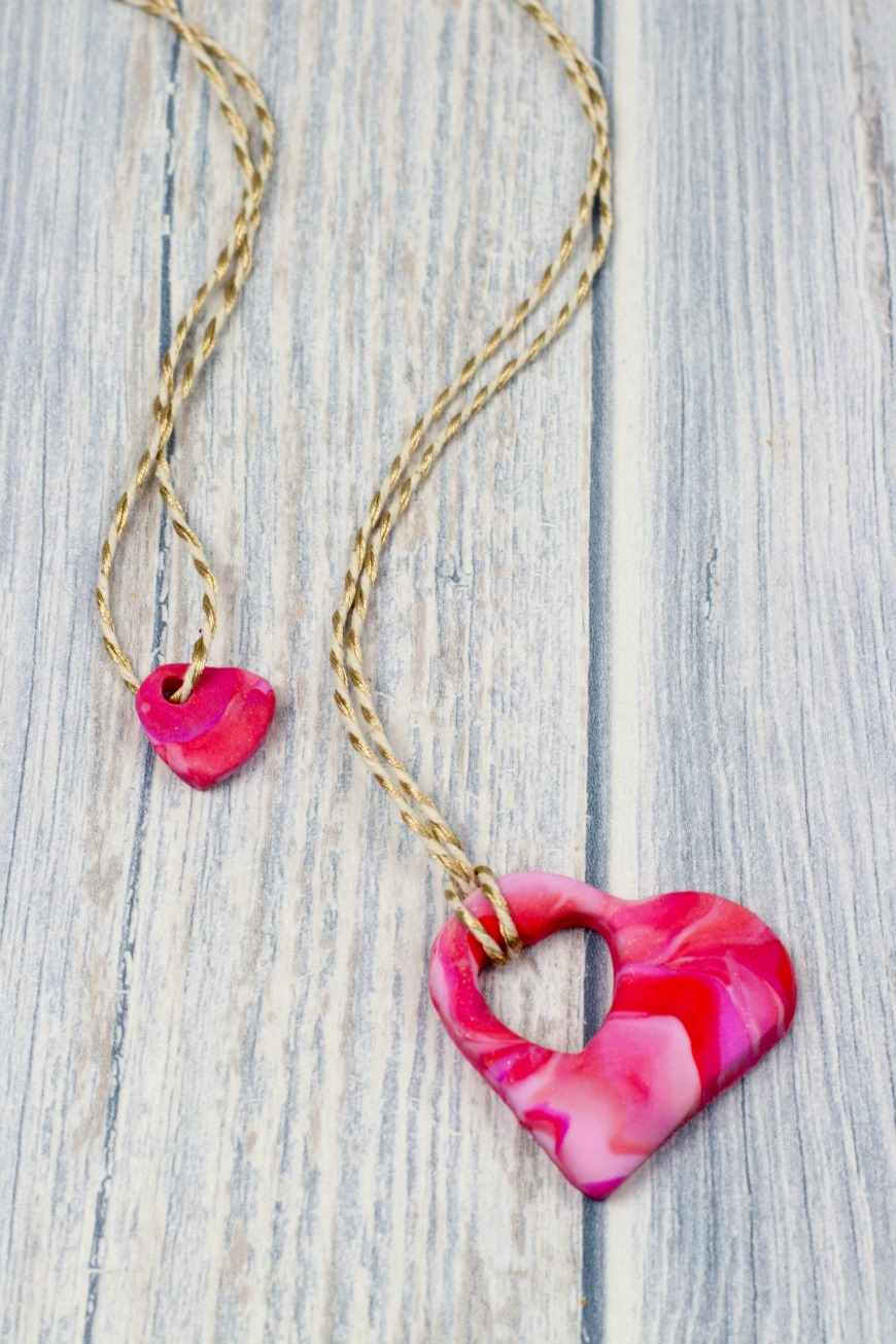 How to make a mother and child heart necklace