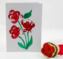 Printing Flowers with Celery Stalks