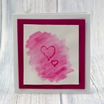 Watercolour Indent Valentines Cards