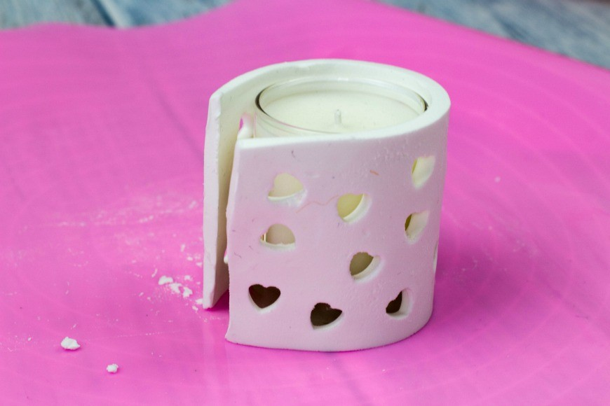 heart cutout tea light holders