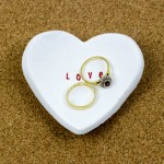 Microwave Clay Heart Shaped Ring Dish