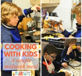 A Simple and speedy midweek meal - Cooking with kids