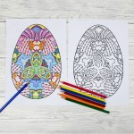 Adult Easter Colouring Pages – Intricate Eggs