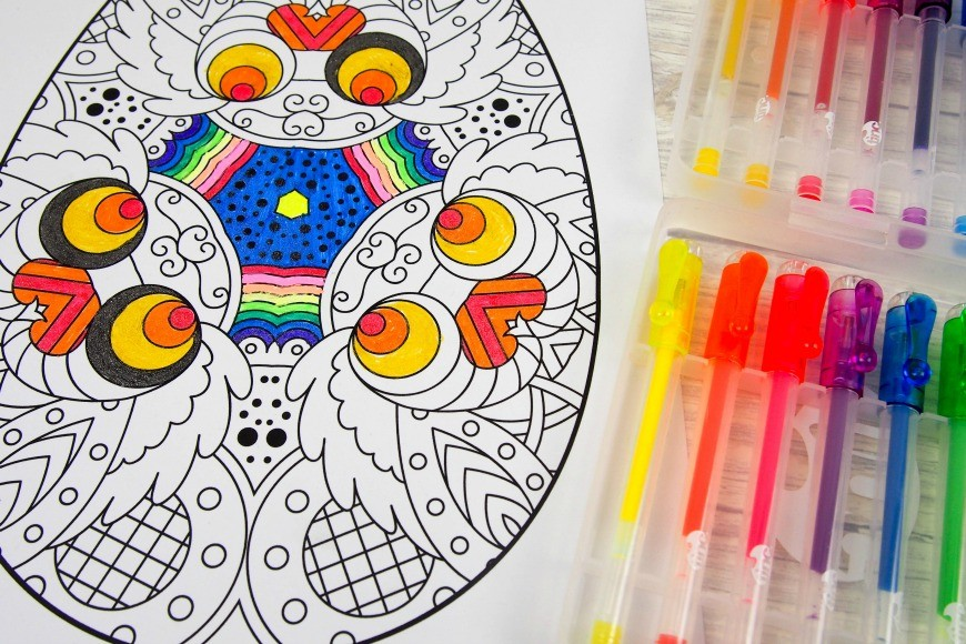 EASTER Eggs Adult Coloring Book: Easter Eggs Coloring for Adults, Teens, and Children of All Ages