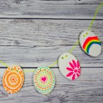 DIY Clay Easter bunting