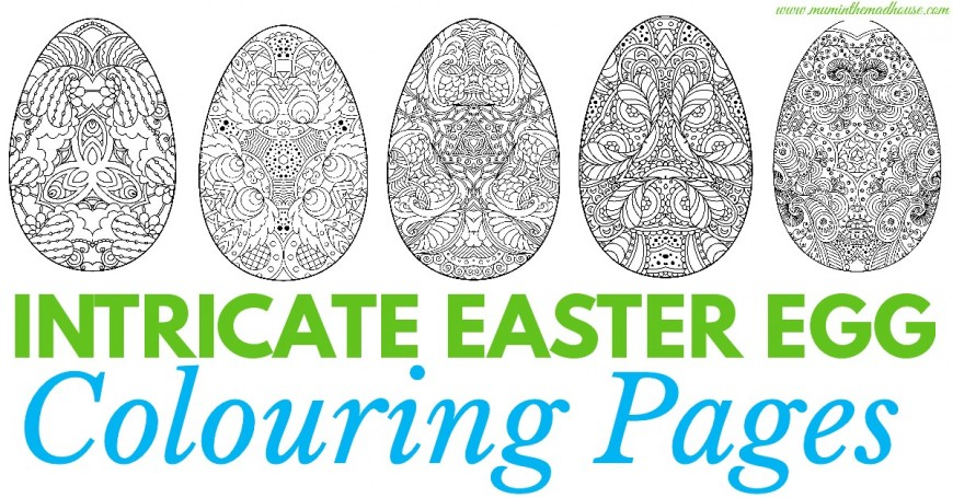 Adult Easter Colouring Pages