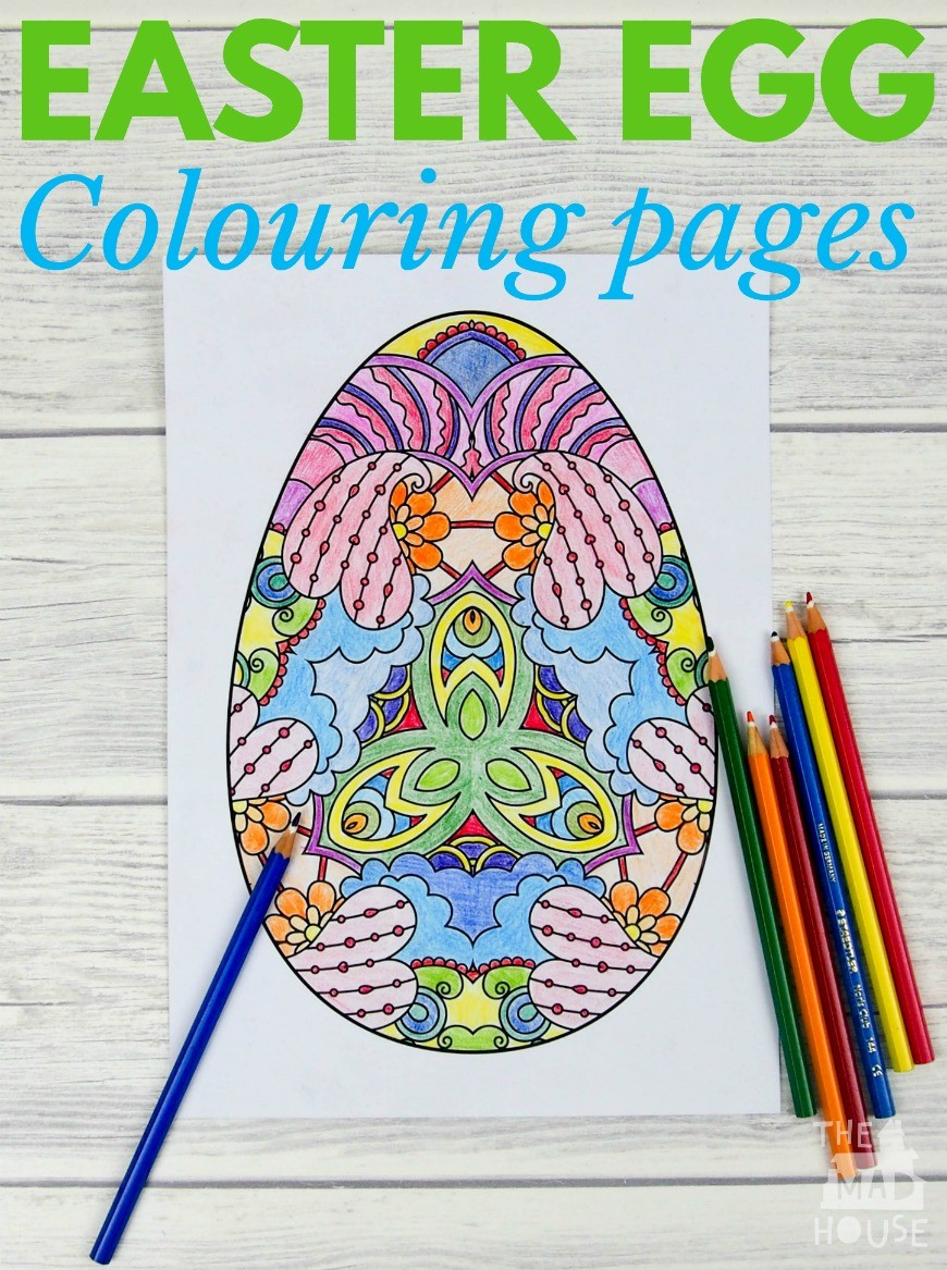 Mindfulness Colouring Ideas Adult Easter Pages Intricate Eggs Mum In The
