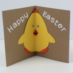 Easter Chick card with pop-out beak