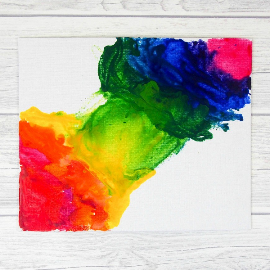 Melted Crayon Art - This is a fab process art activity for tweens and teens that produces stunning results. A great alternative kids craft for using crayons. This DIY craft has to be seen to be believed.