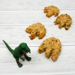 Dinosaur footprint loaded flapjacks