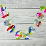 Washi Tape Easter Bunting Process Art