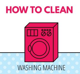 How to clean your washing machine square