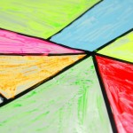 Faux stained glass art for kids