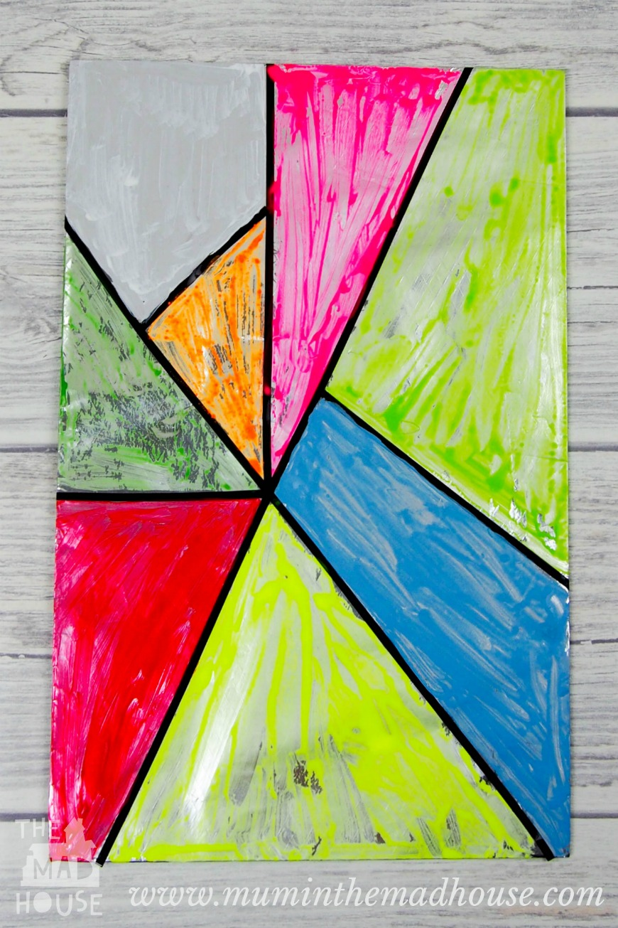 Stained Glass Window Art : Faux stained glass art for kids mum in the madhouse