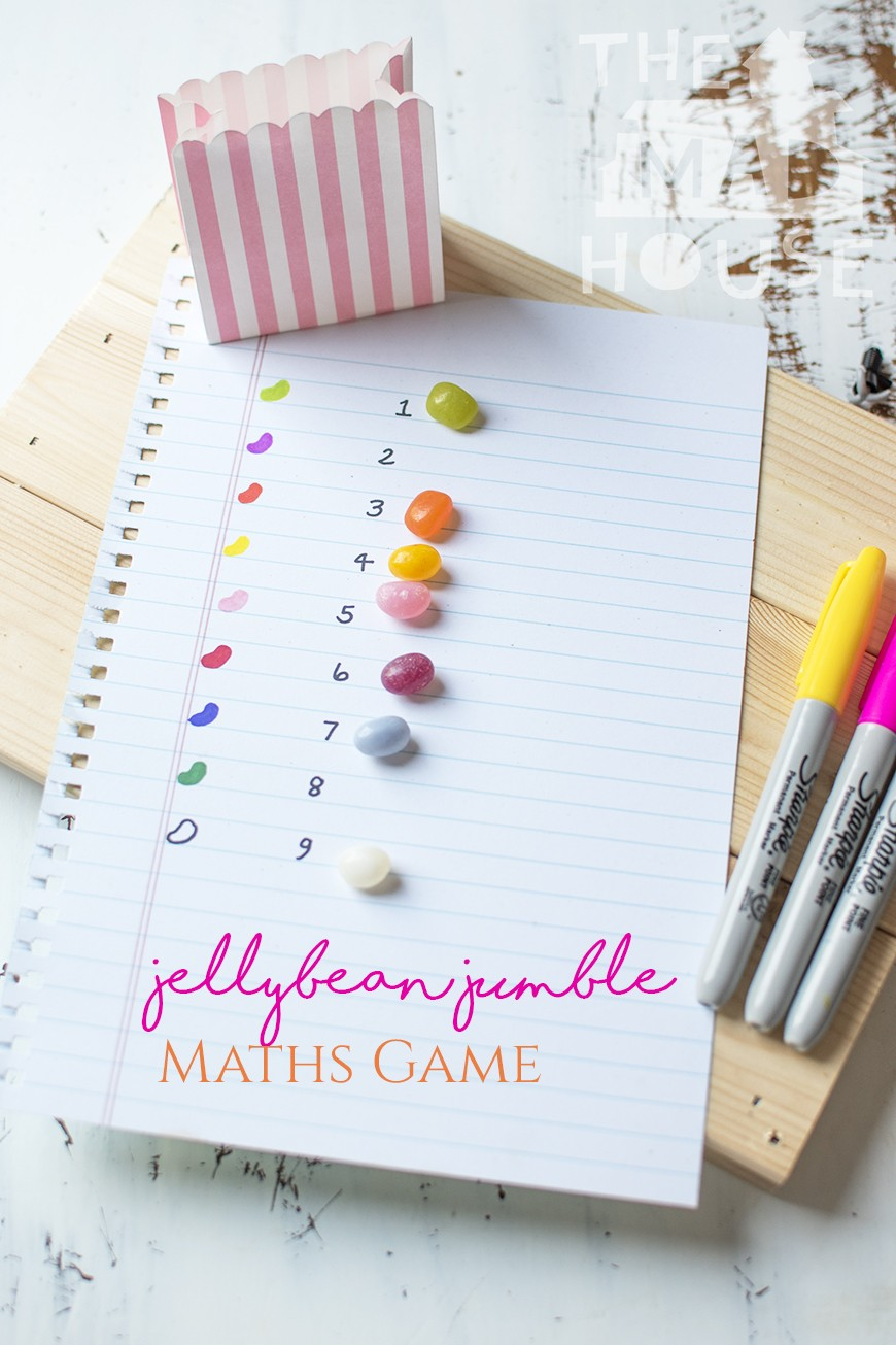 It is so easy to make learning fun and delicious with this simple Jelly Bean Jumble math games. Encourage your children's math skills with this DIY maths game and they will not even know they are learning. Part of our learning with manipulatives series for kids