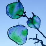 Stained glass Earth craft