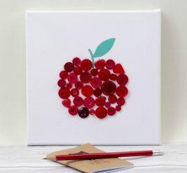 Button Canvas Teacher Gift square