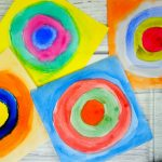 Kandinsky for kids – concentric circles in squares