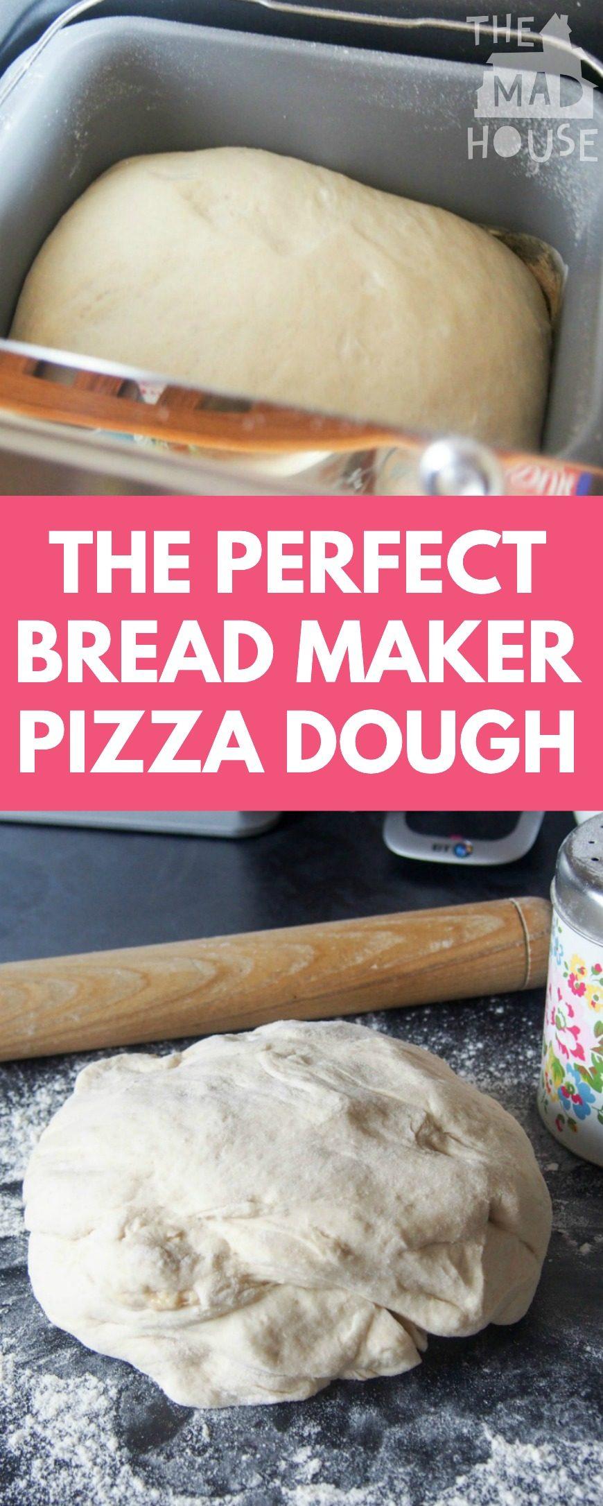 making pizza dough in a bread machine