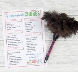 Download your free Age appropriate chores poster below