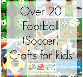 Football Crafts or Soccer crafts for kids square