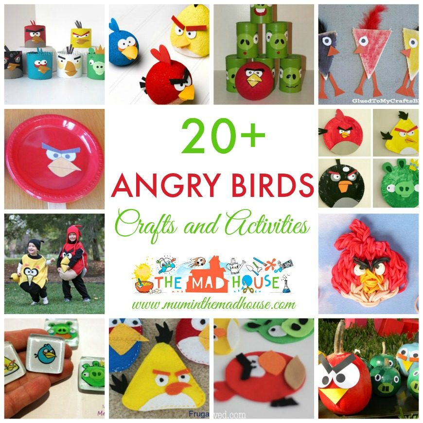20+ Angry Birds Crafts and Activities for Kids