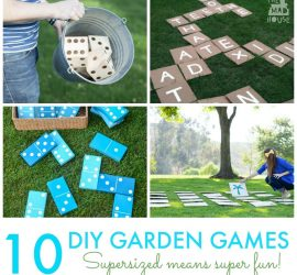 10 Giant DIY Garden Games