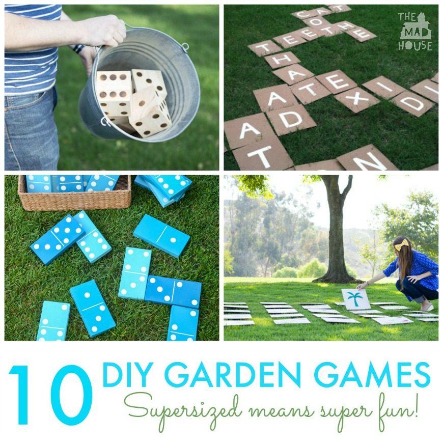 Giant Backyard Games: 10 DIY Giant Garden Games