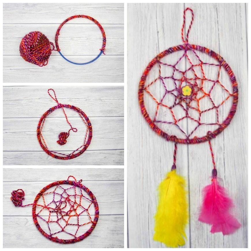 Diy dreamcatcher tutorial mum in the madhouse for Dream catcher craft easy