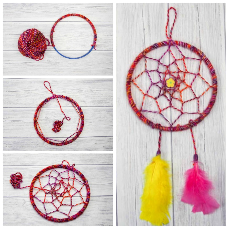 diy dreamcatcher tutorial   mum in the madhouse