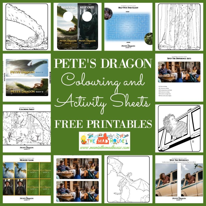 A fabulous selection of Pete's Dragon Colouring and Activity pages to print. Celebrate Pete's Dragon with this activity packet