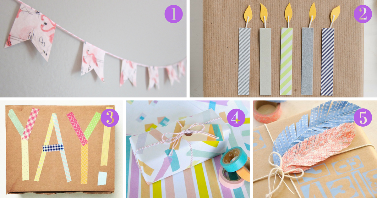 five fabulous washi tape gift wrap ideas mum in the madhouse