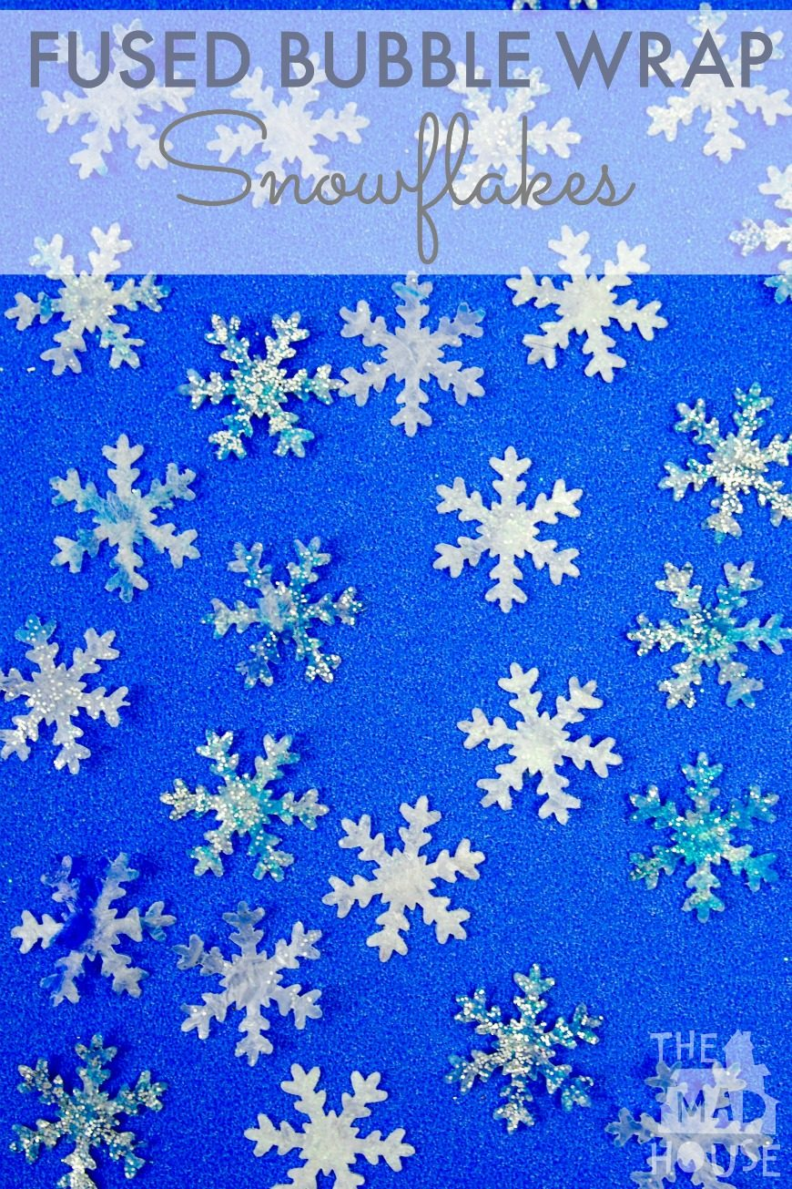 These fused bubble wrap snowflakes were great fun to make and are a great way of getting older children involved in pr