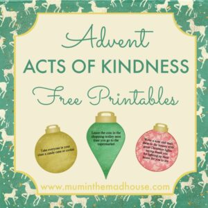 Free Advent Acts of Kindness Printable - 2016 Design