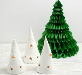 DIY Christmas Tree Luminaries