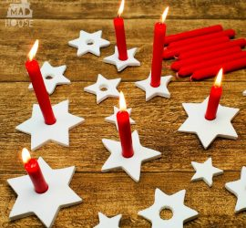 DIY Clay Star Candle Holders