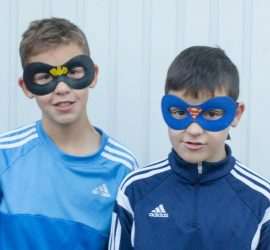 DIY Superhero Masks - Crafting with Tweens