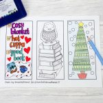 Winter Colouring Bookmarks