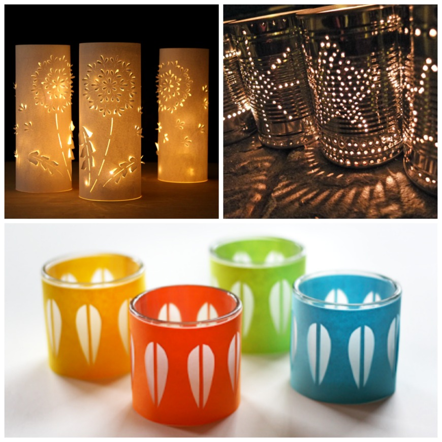 20 delightful diy candle holders and luminaries mum in. Black Bedroom Furniture Sets. Home Design Ideas