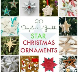 25 Simple & Affordable Star Christmas Ornaments