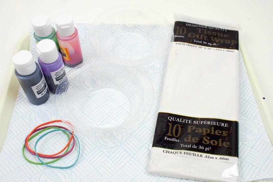DIY Tie Dye Gift Wrap