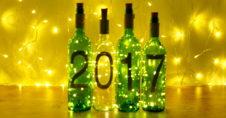 Simple New Year Craft - DIY Wine Bottle Lights