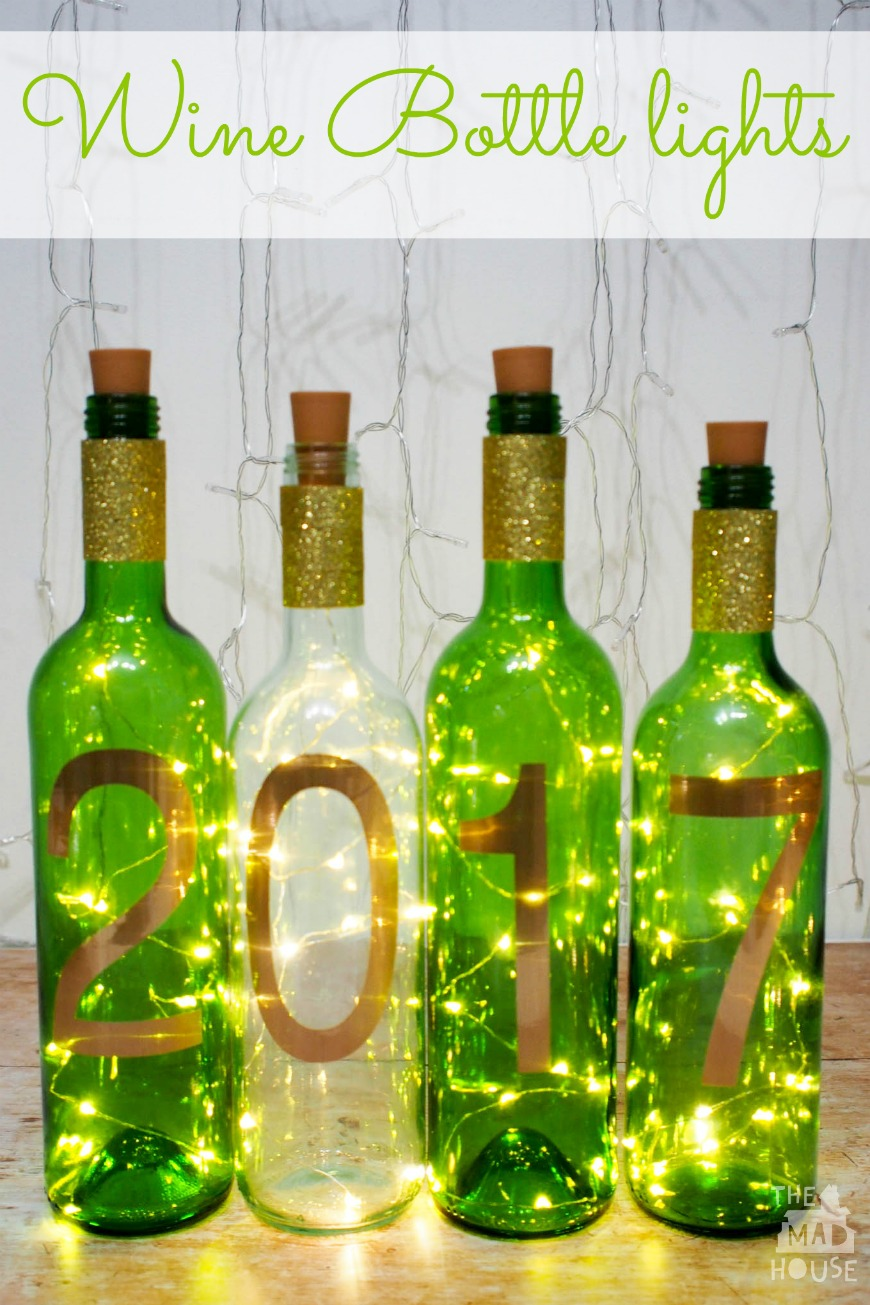 Making Wine Bottle Lights Simple New Year Craft Diy Wine Bottle Lights Mum In The Madhouse