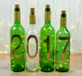 Simple New Year Craft - DIY Wine Bottle Lights