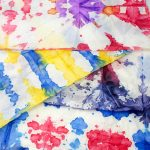 How to make DIY Tie Dye Gift Wrap