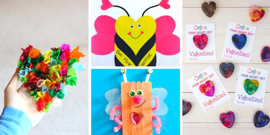 20 Cute and Fun Valentine's Day Heart Crafts. Share the love with these fantastic achievable DIY heart crafts for kids of all ages.