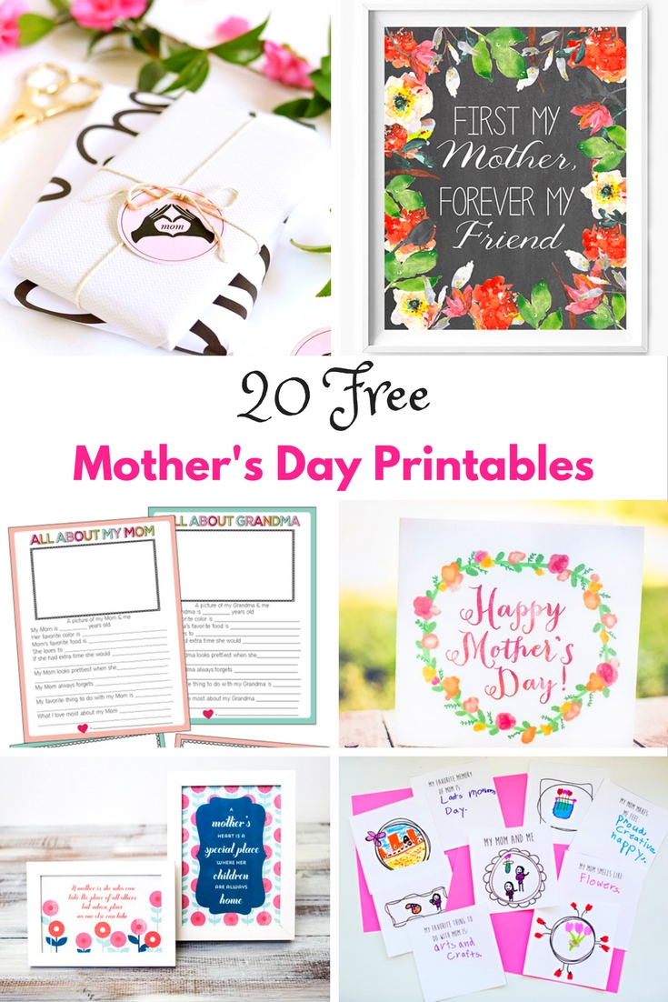 Beautiful free Mother's Day printables. Celebrate the most special person in your life with these stunning selection of free printables for Mother's Day.