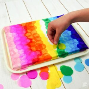 Bleeding Tissue Paper Canvas Art